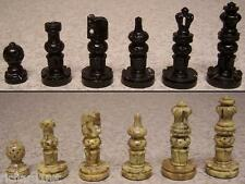Chess Set & wood Storage Box Board India Maharaja hand carved solid marble NEW