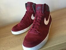 Nike Courtforce Red HiTop Suede trainers/Cleats Size UK 11 EU 46 Nice Condition