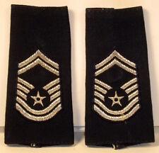 USAF SMSgt Epaulet Soft Shoulder Boards Large Size for Dress Blues Uniform