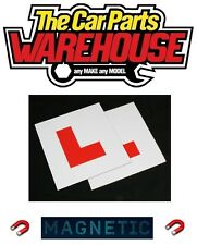 ⭐️ 2 x L Plate Magnetic Exterior Car New Pair Learner Plates Secure & Safe ⭐️