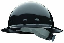 Fibre-Metal Black Full Brim Supereight Hard Hat with Ratchet Suspension
