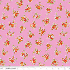 TWO YARDS-Milk, Sugar & Flower Cotton Rose Riley Blake Fabric C4342-Pink