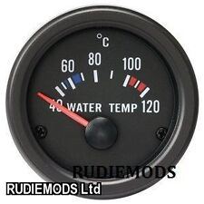 52mm Negro Impermeable Agua Temp deg C Calibre Ideal Kit de coche o Marine