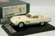 BBR 1/43 - Ferrari 410 SA Superfast Salon Paris 1956 Blanche et Bleue