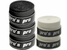 5x Pros Pro Ultra Tacky Griffband 0,7 mm (3 Overgrips schwarz / 2x Overgrip weiß