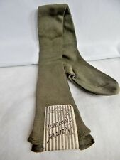 Nos Vintage 1930s Olive Flapper Burlesque Marvel Hosiery Garter Stockings Socks