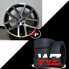 "22"" Viper Style Wheels w Tires Machined Black Fits Dodge Ram 1500 Durango Dakota"