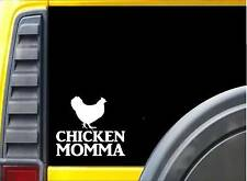 Chicken Momma Sticker k584 8 inch chicken decal