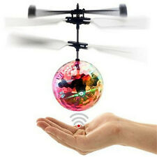 LED Toy Induction Suspension Fly Ball Helicopter Flash Glow RC Aircraft Kid JX