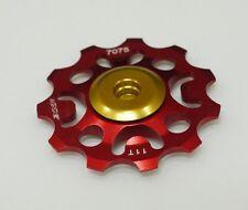 NEW XXF JOCKEY WHEEL PULLEY  Rear Derailleur  SUPER LIGHT RED 11T FOR SHIMANO
