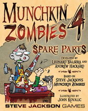 Munchkin Zombies Expansion 4 Four Spare Parts Steve Jackson Games New