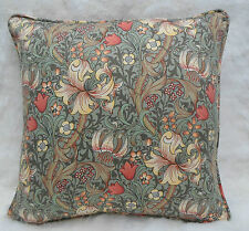 William Morris Fabric, Cushion Cover ~ Golden Lily Minor, 100% Cotton Artichoke
