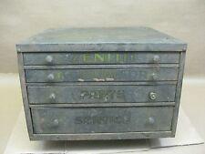 Vtg Zenith Detroit Carburetor Small Parts Garage Service Orig 4 Drawer Cabinet