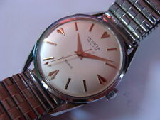 vintage 1950s Invicta De Luxe oversized gents swiss watch..21j..