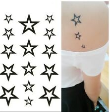 Body art : Tatouage temporaire modèle 15 étoiles noires