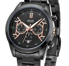 Montre Luxe Fashion Top Qualité Homme Mégir  Date Chronograph Etanche Men Watch