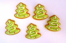 5 x CHRISTMAS Tree Cookie Kawaii Resin Cabochons Flatback