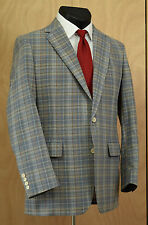 Vtg Gant Men's Plaid Sport Coat 41L Spring/Summer Wool Jacket Blazer