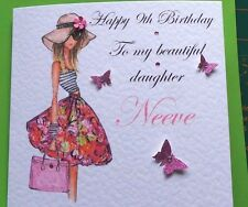 personalised handmade birthday card 13th 16th 21st 18th daughter sister 40th 9th