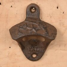 Cast Iron Pistol Bottle Opener Wall Mount Great for the Bar