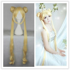 100cm Golden Anime Sailor Moon Tsukino Usagi Princess Costume Party Cosplay Wig