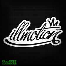 ILLMOTION JDM RARE ILLEST CAR DECAL STICKER ANY_COLR FATLACE ILL DUB VAG DAPPER