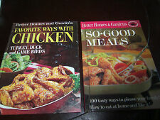 2 - Better Homes & Gardens Favorite Ways With Chicken 1969 & So-Good Meals 1963