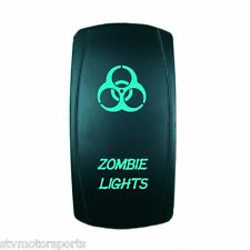 POLARIS RANGER RZR XP 1000 BACKLIT GREEN ROCKER SWITCH ZOMBIE LIGHTS UTV ATV