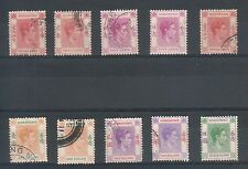 HONG KONG 1950´S K.G. VI COLLECTION INCLUDES $5 PARTIAL GUM