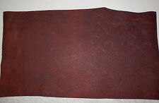 "Dark Brown Western Floral Cowhide Leather Scraps 13.5""x24"" avg 1.3mm thick #9"