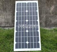 20 W MONOCRYSTALLINE SOLAR PANEL 20 WATTS BATTERY CHARGER 12V PV 3M CABLE DIODE