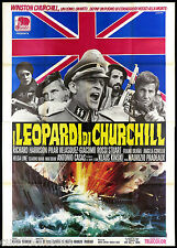 I LEOPARDI DI CHURCHILL MANIFESTO CINEMA SECOND WAR WEHRMACHT SS MOVIE POSTER 4F