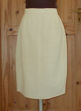 PADDY CAMPBELL golden sandy beige yellow midi knee straight pencil skirt 14 42