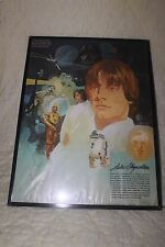 "Star Wars  1977 Coca Cola/Burger Chef Luke Skywalker 18"" x 24"" Poster w/Frame"