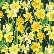 Fat Quarter Daffodil Blossom (Open) 100% Cotton Quilting Fabric