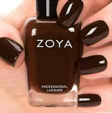 ZOYA ZP694 LOUISE chocolate brown nail polish lacquer~CASHMERES Collection .5 oz