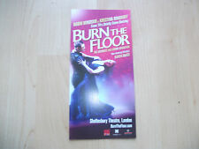 **Burn The Floor at Shaftesbury Avenue London Flyer Great Condition**