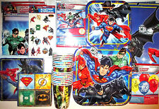 JUSTICE LEAGUE Birthday Party Supply SUPER Kit w/Loot Bags, Invites & Balloons