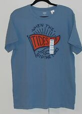"""Men'S Old Navy Blue """"When The Tides Rip Rip The Tides"""" Tshirt - Size Large"""