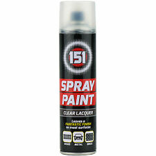 8 x 300ml 151 Clear Lacquer Aerosol Paint Spray Cars Wood Metal Walls Graffiti