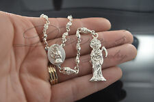 Santa Muerte Rosario Sterling Silver .925 / Holy Death Rosary Sterling .925