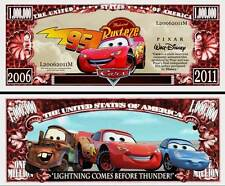 CARS / FLASH McQUEEN BILLET 1 MILLION DOLLAR US ! MARTIN Collection Walt Disney