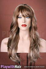Lush Lengths Flowing Wig Golden Brown Blonde