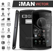 "Unlocked iMAN VICTOR Black 5"" Octa Core 4G Android IP67 Waterproof Mobile Phone"