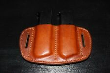 Custom Leather Double clip/magazine holster for 1911 Light Brown Single Stack