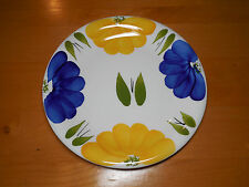 Maxam Italy ITALIAN DAISY Set of 3 Dinner Plates 10 3/8 Blue Yellow