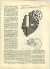 1883 Maccoll Riveting Machine Constructed William New Manchester