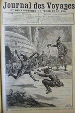 JOURNAL DES VOYAGES N° 92 de 1879 AFRIQUE DANSE ZOULOU