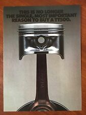 Vintage 1976 Original Print Ad YAMAHA TT500 Motorcycle ~Single Important Reason~