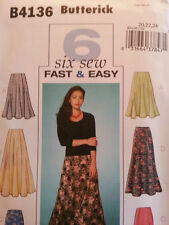 Butterick Pattern B4136 Misses' Skirts 4 Styles sizes 20-24 New FREE SHIPPING